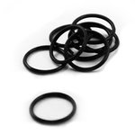 Rubber O-Ring - Black - 12 mm