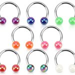 Circular Barbell - Balls - Metallic Colored