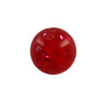 Piercing Ball - Acrylic - Glitter - Red - with Screw