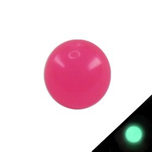 Piercing Ball - Acrylic - Glow in the dark - Pink - with Screw