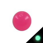 Piercing Ball - Acrylic - Glow in the dark - Pink - with...