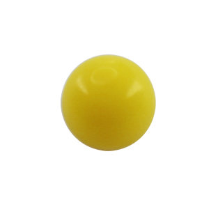 Piercing Ball - Acrylic - Yellow - with Screw