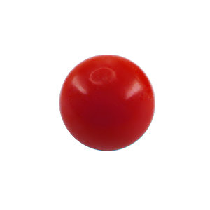 Piercing Ball - Acrylic - Red - with Screw