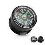 Ear Plug - Black - Compass - 10 mm
