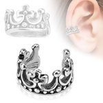 Ear Cuff - Silver - Crown