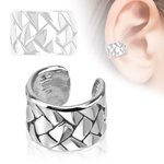 Ear Cuff - Silver - Braided