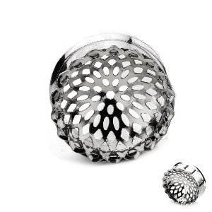 Ear Plug - Steel - Mandala - Small - Silver