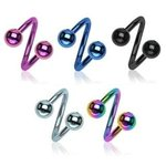 Spiral Piercing - Balls - Colorful