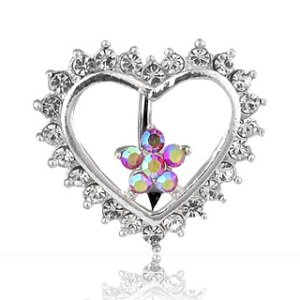 Bananabell Piercing - Buckle - Crystals - Heart