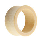 Wood Flesh Tunnel - Light Brown - Maple - 14 mm