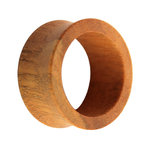 Wood Flesh Tunnel - Brown - Tiger Wood - 5 mm