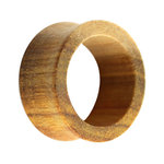 Wood Flesh Tunnel - Brown - Canary Wood - 16 mm