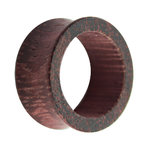 Wood Flesh Tunnel - Brown - Purple - Amaranth Wood - 10 mm