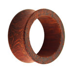 Wood Flesh Tunnel - Reddish Brown - Padouk Wood - 16 mm