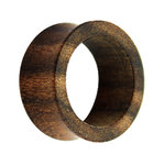 Wood Flesh Tunnel - Dark Brown - Bocote Wood