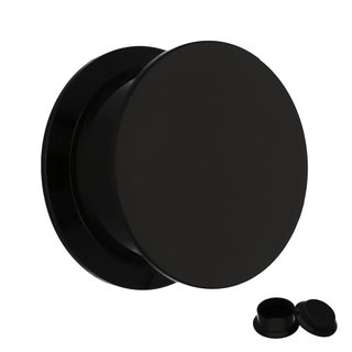 Classic Ear Plug - Screw - Black