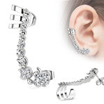Ear Stud - Ear Cuff - Crystals - Clear