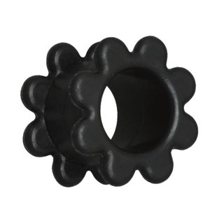 Flesh Tunnel - Silicone - Flower - Black