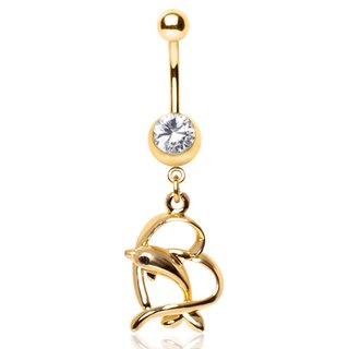 Bananabell Piercing - Gold - Dolphin - Heart