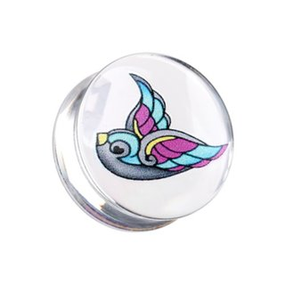 Silhouette Ear Plug - Swallow - Blue