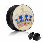 Picture Ear Plug - Screw - Crown