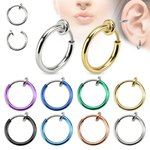 Fake Piercing - Ring - Colorful - [07.] - rose gold
