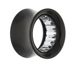 Flesh Tunnel - Acrylic - Pattern Inside - Silver - 16 mm