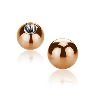 Piercing Ball - Steel - Rose Gold - with Screw
