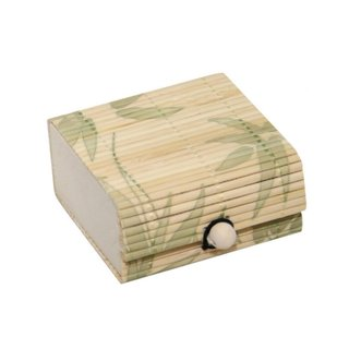 Jewelry Box - Bamboo - Light Brown - Leafs