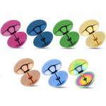 Piercing Fake Plug - Half-Round - Colorful - [5.] - rose...