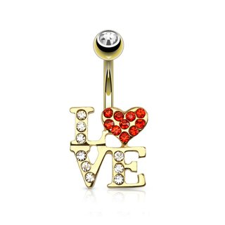 Bananabell Piercing - Gold - Love