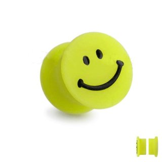 Magnet Fake Plug - Silicone - Yellow - Smiley
