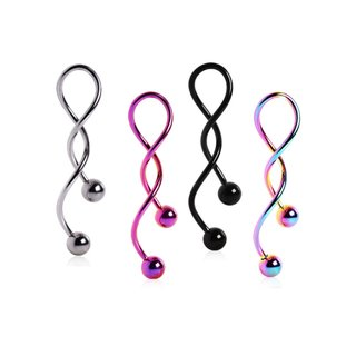 Navel Ring - Spiral - Colorful