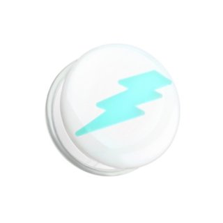 Picture Ear Plug - Glow in the dark - White - Flash