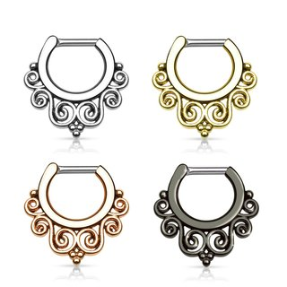 Septum Clicker - Filigree Swirls