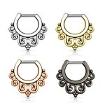 Septum Clicker - Filigree Swirls - [01.] - silver