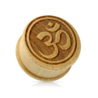 Wood Ear Plug - Bamboo - Om Sign