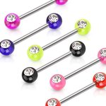 Nipple Piercing - Acrylic - Crystal - Clear - [05.] - pink