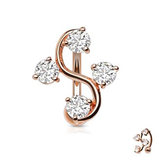 Bananabell Piercing - Vine - Rose Gold - Crystal
