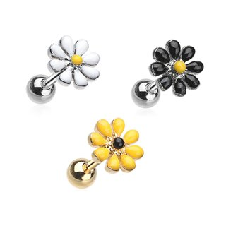 Barbell Piercing - Short - Steel - Daisy