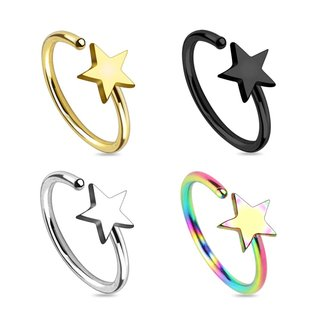 Nose Stud - Ring - Star