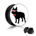 Picture Ear Plug - Screw - French Bulldog - Man