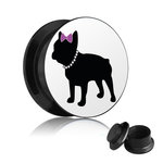 Picture Ear Plug - Screw - French Bulldog - Woman