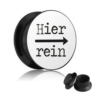 Picture Ear Plug - Screw - Hier rein