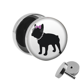 Picture Fake Plug - French Bulldog - Woman