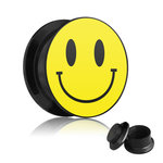 Picture Ear Plug - Screw - Smiley