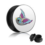 Picture Ear Plug - Screw - Swallow