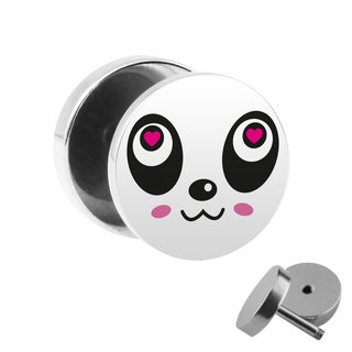 Picture Fake Plug - Panda Face