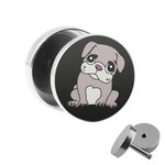 Picture Fake Plug - Pug Puppy - Black