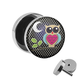 Picture Fake Plug - Owl - Moon